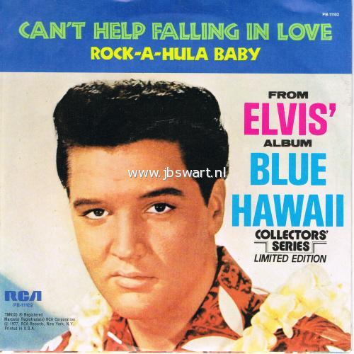 Elvis presley - can`t help falling in love/ rock-a-hula baby